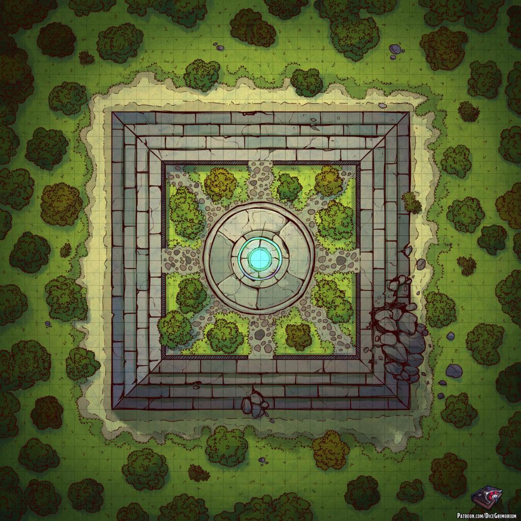 Ancient Altar D&D Battle Map