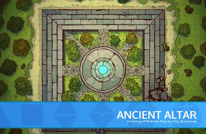 Ancient Altar Battle Map Banner