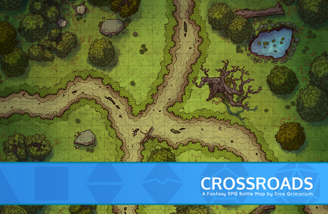 Crossroads D&D Battle Map Banner