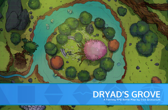 Dryad's Grove Battle Map Promo