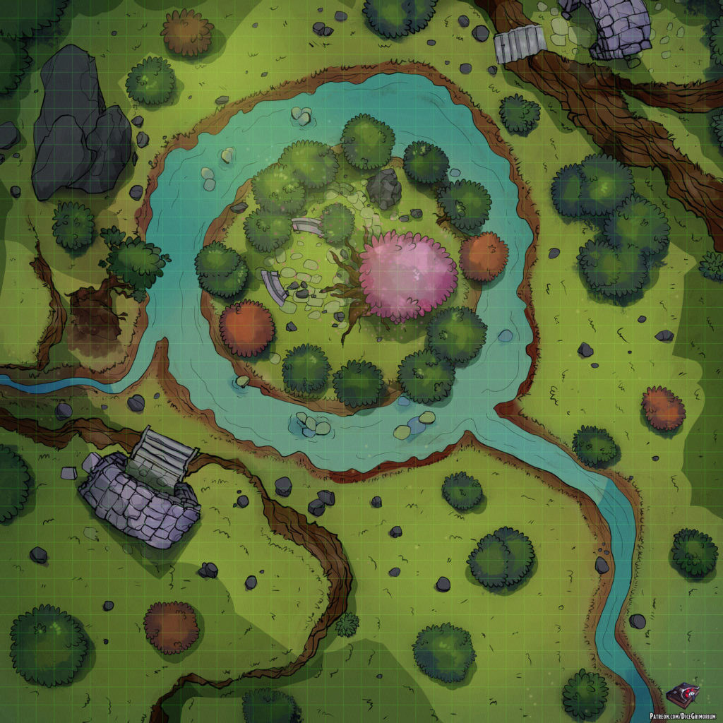 Dryad's Grove | D&D Map for Roll20 And Tabletop — Dice Grimorium