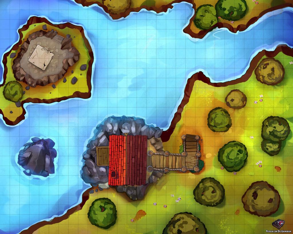 Fisherman's Shack D&D Map