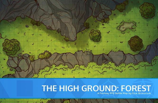 High Ground: Forest Battle Map Banner