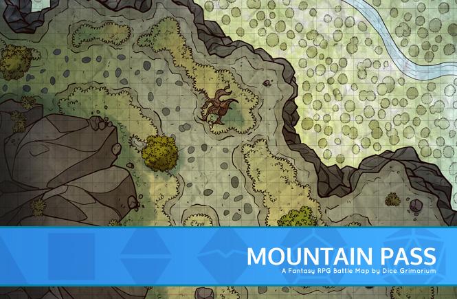 Mountain Pass Battle Map Banner