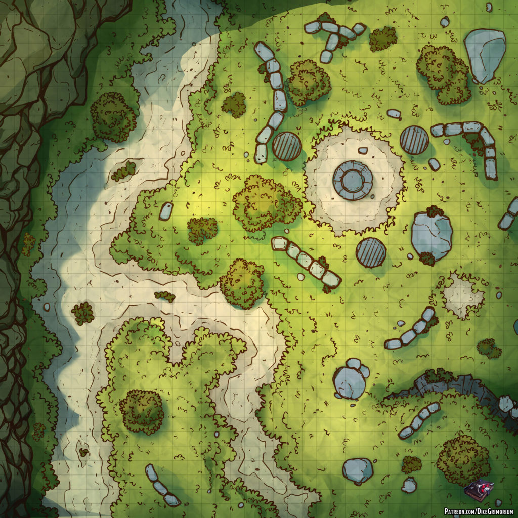 Altar By The Road D&D Battle Map