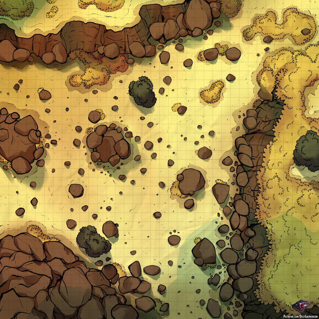 Rocky Road | D&D Map for Roll20 And Tabletop — Dice Grimorium
