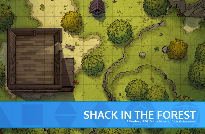 Shack In The Forest Banner