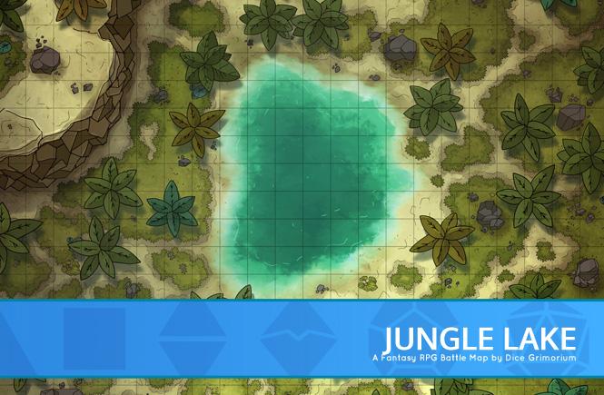 Jungle Lake Battle Map Banner