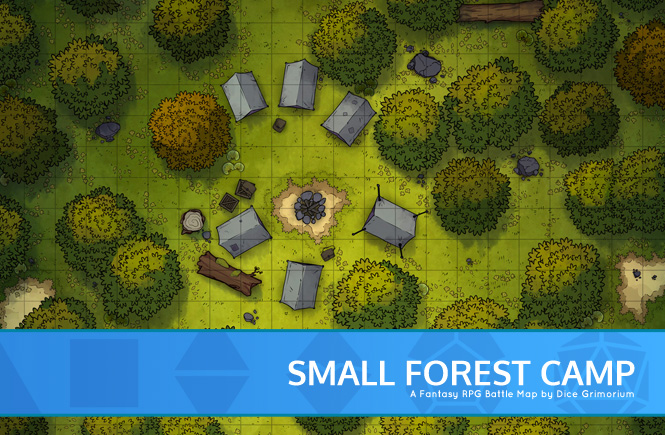 Small Forest Camp Battle Map Banner