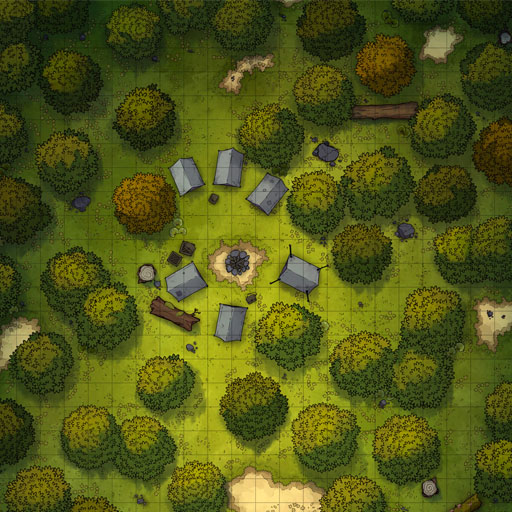 Small Forest Camp Battle Map Thumbnail