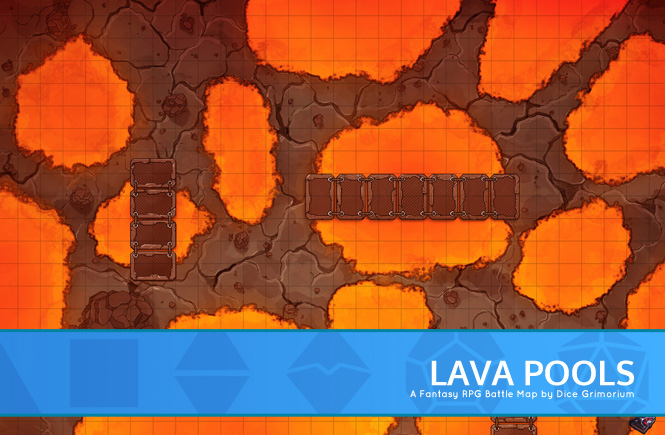 Lava Pools Battle Map Banner