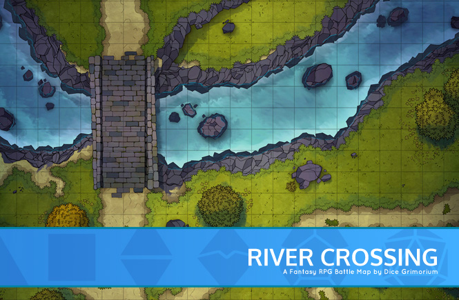 River Crossing Battle Map Banner