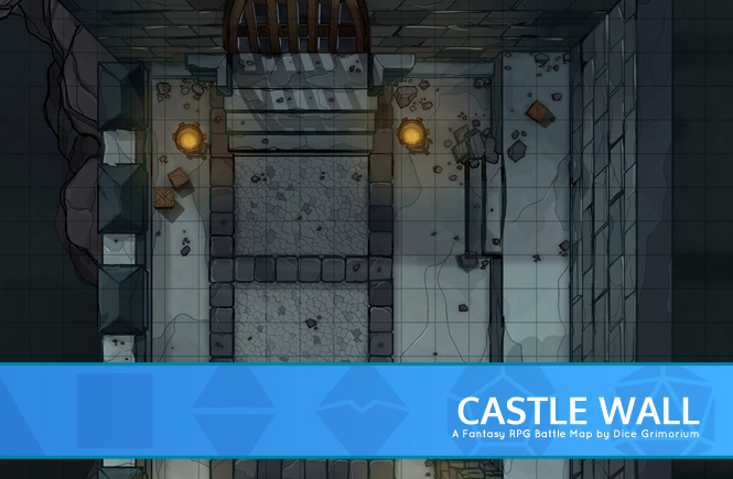 Castle Wall Battle Map Banner
