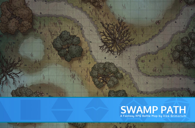 Swamp Path Battle Map Banner