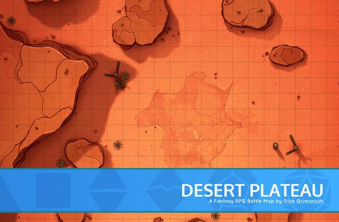 Desert Plateau Battle Map Banner