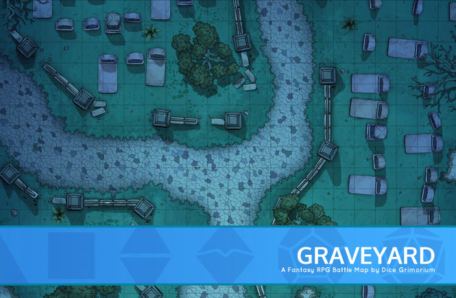 Graveyard Battle Map Banner