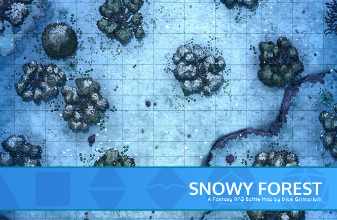 Snowy Forest Battle Map Banner