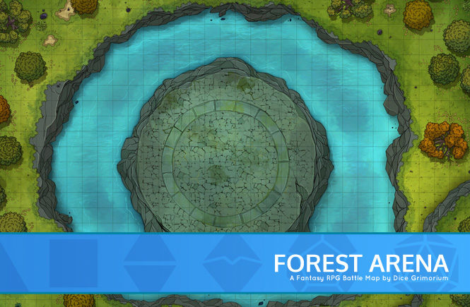 Forest Arena Battle Map Banner
