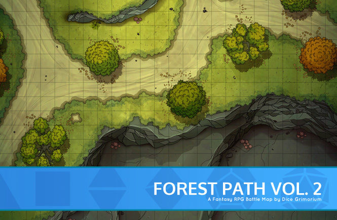 Forest Path 2 Battle Map Banner