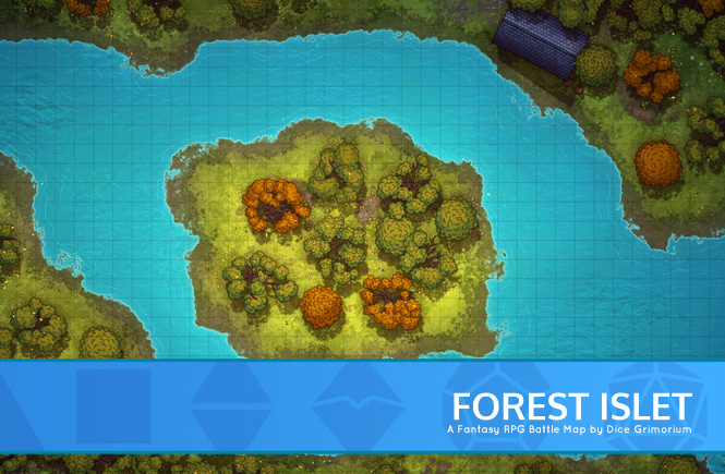 Forest Islet Battle Map Banner