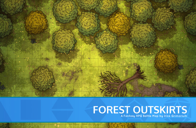 Forest Outskirts Battle Map Banner
