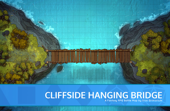 Cliff-side Hanging Bridge Battle Map Banner