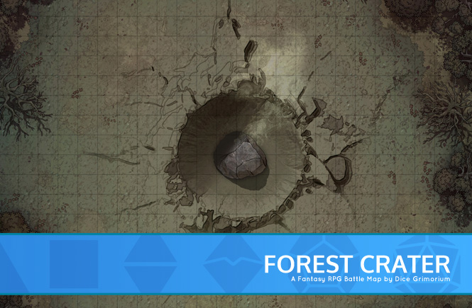 Forest Crater Battle Map Banner
