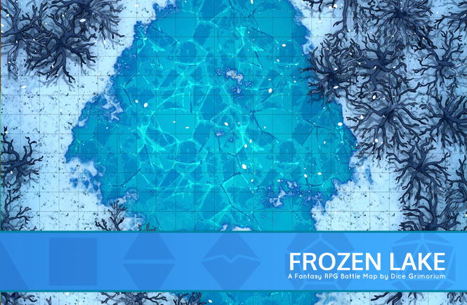 Frozen Lake Battle Map Banner