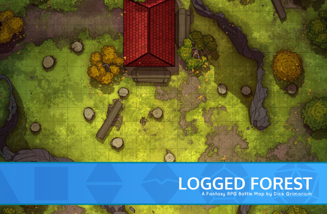 Logged Forest Battle Map Banner