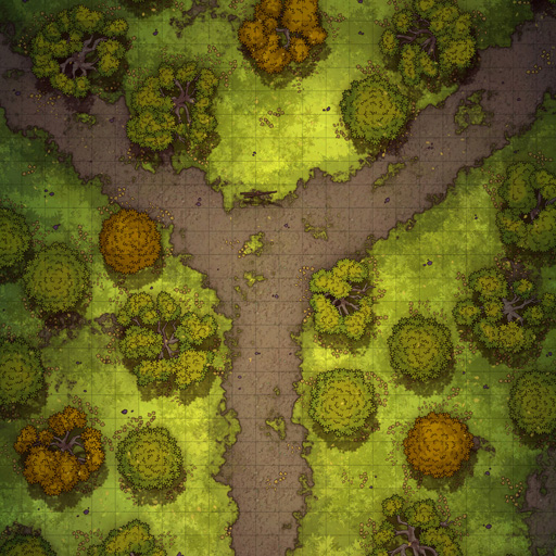 Forest Path Bifurcation Battle Map Thumb