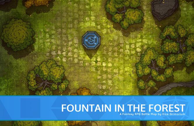 Forest Fountain Battle Map Banner