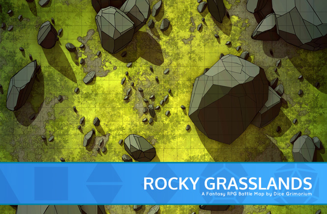 Rocky Grasslands Battle Map Banner