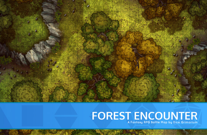 Forest Encounter Battle Map Banner