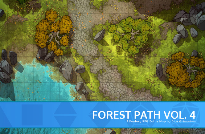 Forest Path Battle Map Banner