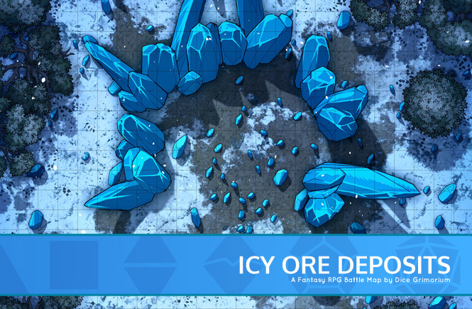 Icy Ore Deposits Battle Map Banner