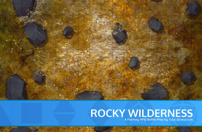 Rocky Wilderness Battle Map Banner