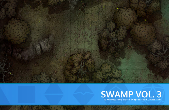 Swamp Forest Battle Map Banner