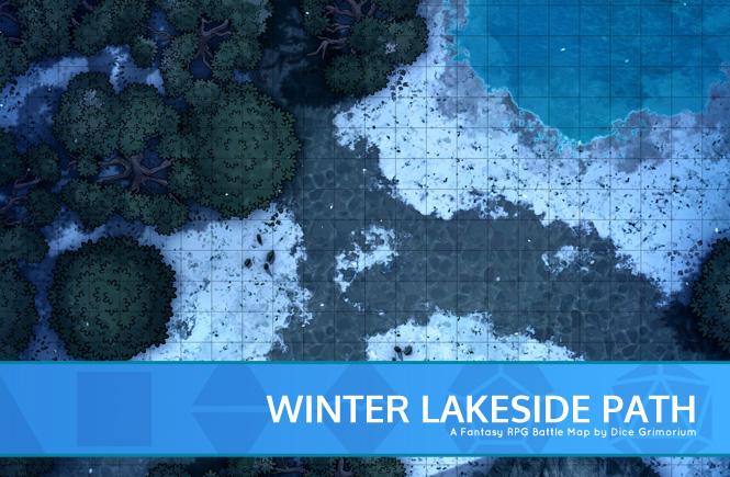 Winter Lakeside Battle Map Banner