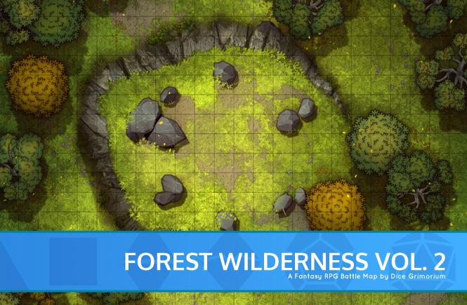 Forest Wilderness Vol. 2 Battle Map Banner