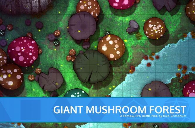 Giant Mushroom Forest Battle Map Thumb