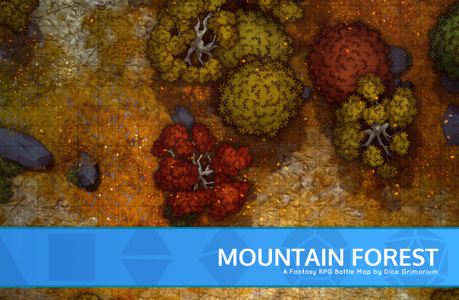 Mountain Forest Battle Map Banner