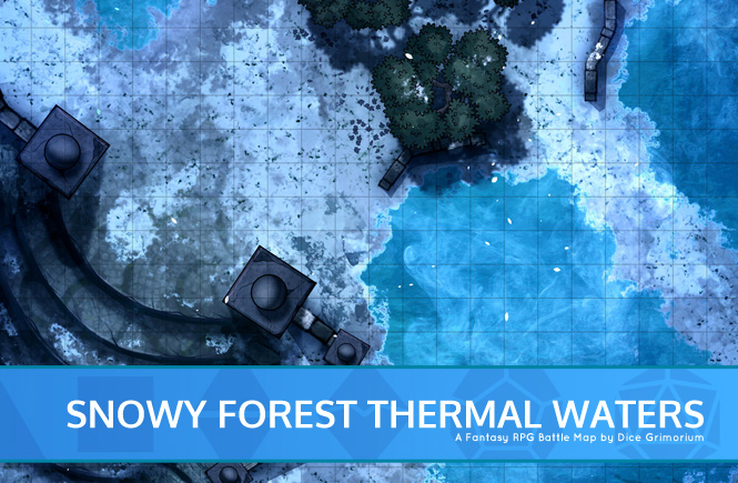 Snowy Forest Thermal Waters Battle Map Banner