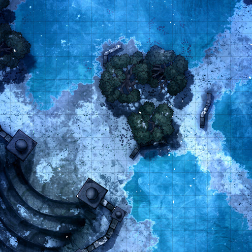 Snowy Forest Thermal Waters Battle Map Thumb