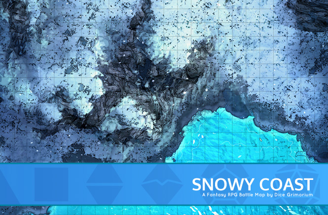 Snowy Coast Battle Map Banner