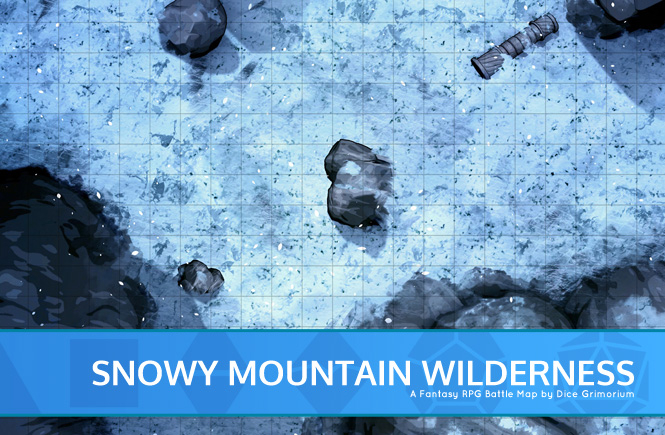 Snowy Mountain Wilderness Battle Map Banner
