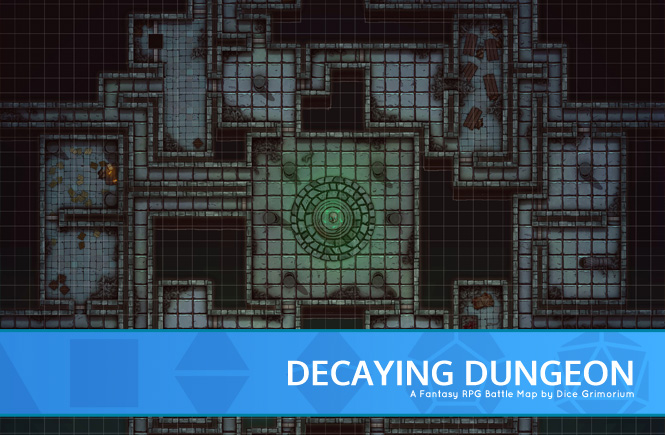 Decaying Dungeon Battle Map Banner