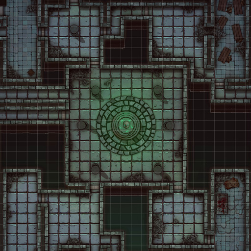 Decaying Dungeon Battle Map Thumb