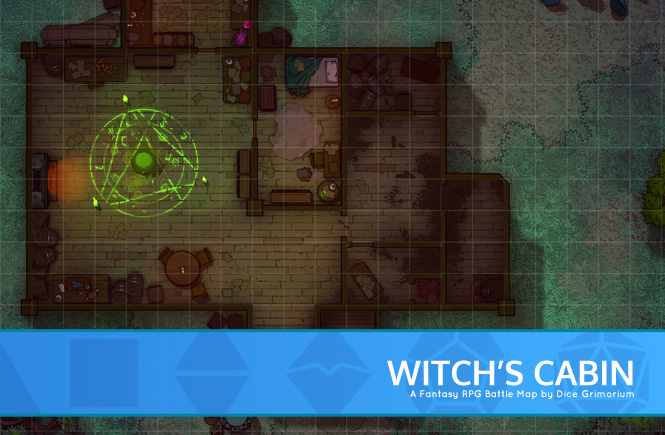 Witch's Cabin Battle Map Banner