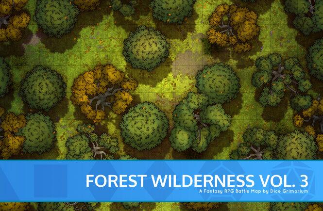 Forest Wilderness Vol. 3 Battle Map Banner