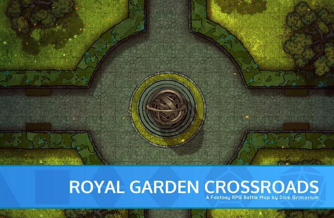 Royal Garden Crossroads Battle Map Banner